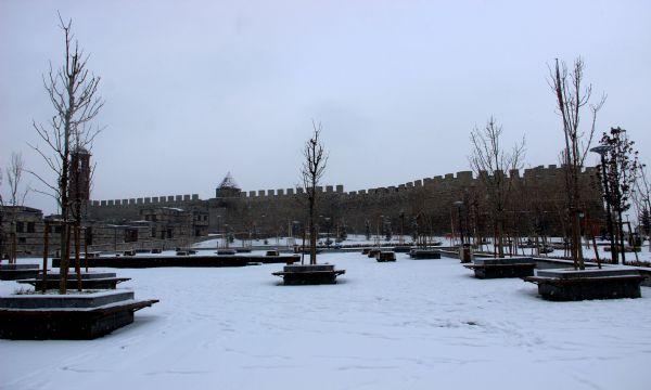 Erzurum'da Tarih ve Kar Buluşması İHA