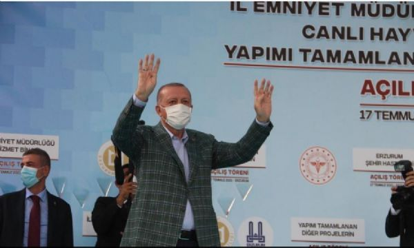 Dadaşlar Cumhurbaşkanı Erdoğan'ı ağırladı
