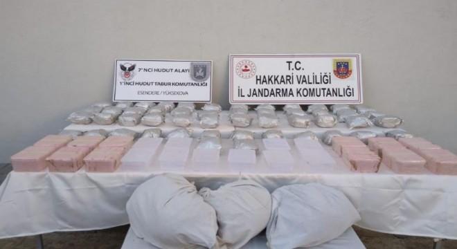 98 kilo 600 gram uyuşturucu ele geçirildi