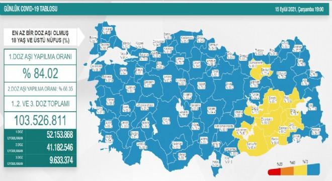 Erzurum'da aşılanma oranı yüzde 76.2'ye yükseldi