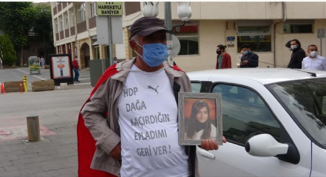 Kızı için HDP'e yürüdü